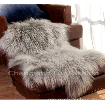 Soft Mongolian Lamb Fur Blanket