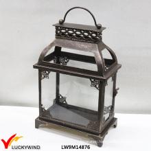 Antique Brass Decorative Outdoor Metal Hurrican Lantern