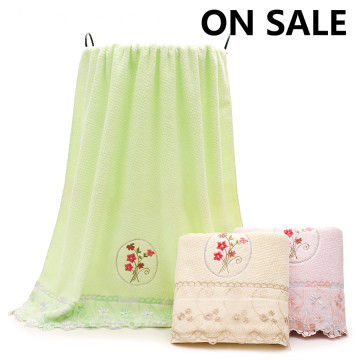 Bargain Price Stock Towels Tepi Bunga Bath Towels