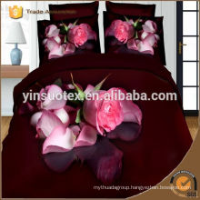 Wholesale queen size 3d polyester printed Bedding Set