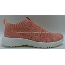 Mulheres moda conforto senhoras flyknit esportes sapatos tênis