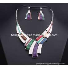 Square Stone Jewelry Set/Fashion Necklace Set (XJW13204)