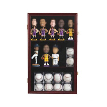 Custom Wooden 98% UV protection Bobble Head Figurine Display Case Holder Wall