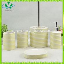 Fancy design banheira de cerâmica branca conjunto