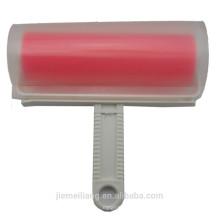 (JML) Color Rojo Rodillo lavable de la limpieza de la ropa que rueda el cepillo de la pelusa del cepillo