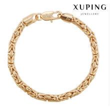 74478 Moda Cool 18k banhado a ouro imitação de jóias pulseira em liga de cobre