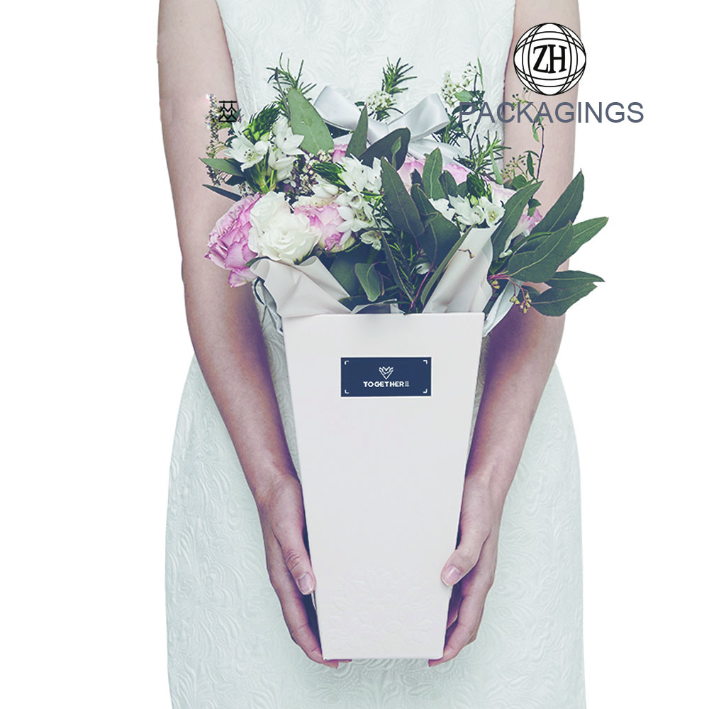 Bouquet gift cardboard for flower packaging box