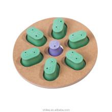Brinquedo interativo e divertido de madeira para pata de animal de estimação