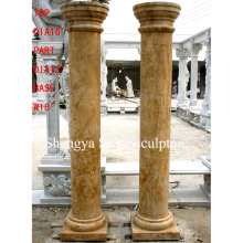 Yellow Marble Stone Sculpture Column (SY-C005)