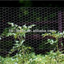 Malla de alambre hexagonal de gallinero de pollo galvanizado