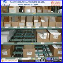 Rack de fluxo de caixa de aço amplamente utilizado com sistemas First in-First Out