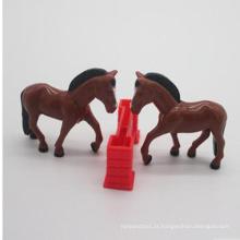 Alta Simulação Bonito Plástico Animal Cavalo Conjunto De Brinquedos