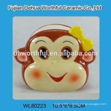 Держатель керамической салфетки формы обезьяны для кухни