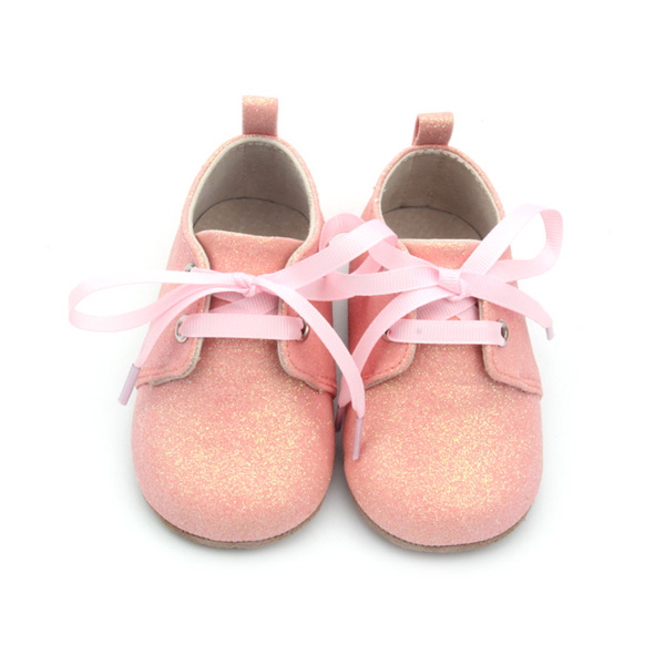 Baby Oxford Shoes Pink Glitter Girls Shoes Baby Footwear