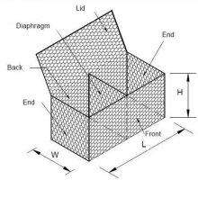 Тяжелые оцинкованные цинком шестиугольные коробки для габиона для продажи