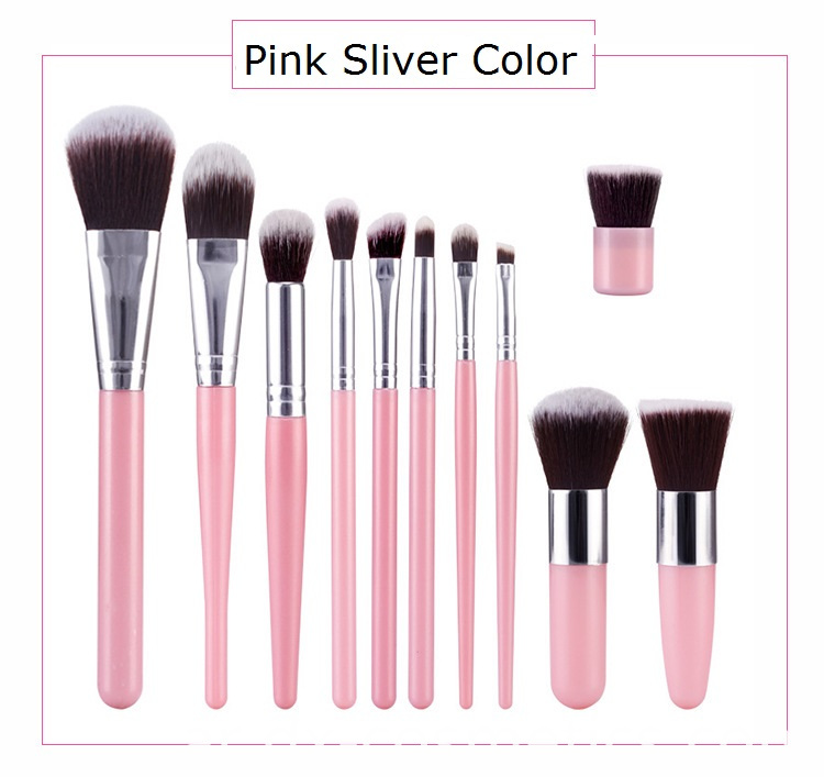 Pink Makeup Brush Set Color