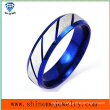 Shineme Jewelry Between Silver and Blue Body Jewelry Ring (SSR2775)