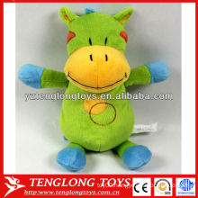Surper soft colorful horse shaped plush baby toy with embroidery