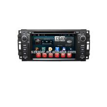 """6 """"reproductor de DVD del coche, fábrica directamente! Quad core, GPS, DVD, radio, bluetooth para jeep brújula"""