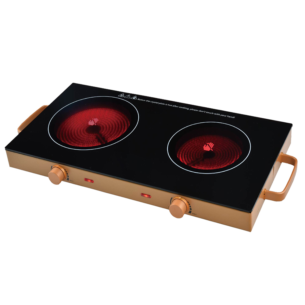 Infrared Ceramic Double Cooking plate Cooktop burner