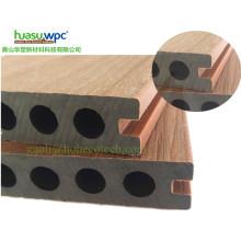 Tipo oco Decking da co-extrusão da placa WPC da madeira