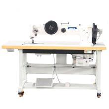 Máquina de costura pesada para passeio a pé com alimentação de agulha dupla de braço longo