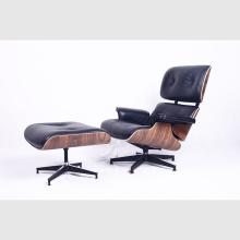 Gemütlicher Eames Lounge Chair aus hochwertigem Leder