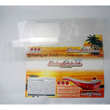 transparent plastic PP/PVC/PET printed box (clear packaging boxes)