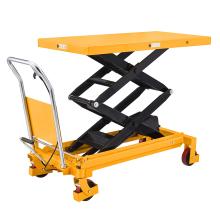 Xilin heavy duty 0.8ton 800kg tables lifting manual hydraulic scissor lift table