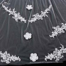 TA043 Heißer Verkauf ein Schicht-Spitze-Applique-Brautschleier