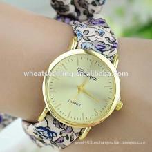 Las señoras aman la tela elegante de la correa del reloj de China del alibaba de Ginebra