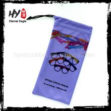 Логотип напечатан дешевые мягкий чехол из микрофибры, сублимационная печать солнцезащитные очки сумки мягкий чехол, сублимация напечатала мешок для очки