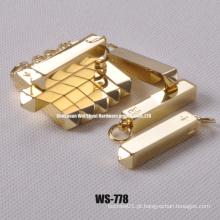 Liga de zinco pingentes decorativos para bolsas, vestuário
