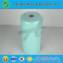 Tissu de nettoyage non-tissé de bleu de machine de nettoyage de petit pain industriel de 60gsm