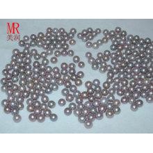 6-7мм лавандовые круглые пресноводные жемчужные бусины