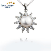 10mm AAA botón perla de agua dulce buen diseño