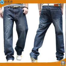 Pantalones de mezclilla de algodón de los hombres de los pantalones vaqueros de Slim Fit de los OEM