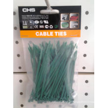 Self-Locking Nylon Cable Ties Green Color