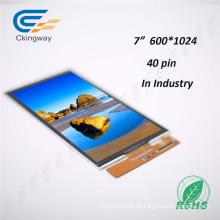Pantalla LCD TFT LCD de 7 pulgadas y 40 contactos Mipi Interfaz