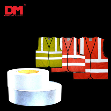 EN20471 Sew on high visibility grey polyester reflective fabric for reflection safety protection garment