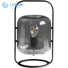 LEDER Grey Glass Stand Table Lamp