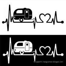 Electrocardiogram Design Vinyl Car Decals Custom Car Body Sticker Design
