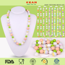 New+design+sensory+silicone+baby+teething+necklace