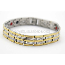 Negative Ions balance Power Engergy Healthy Germanium Infrared Ray 18k gold plated Magnetic Bracelets bangle for women