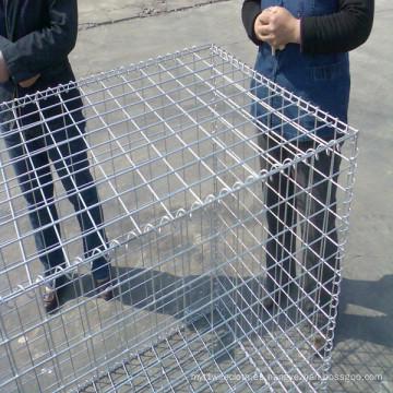 Caja de gaviones soldada con autógena galvanizada tamaño de la malla 50 * 50m m