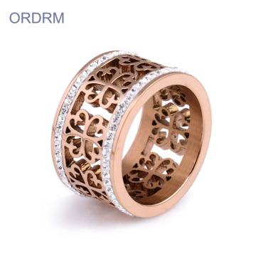 Rose Gold Fashion Rhinestone Ring Band voor meisje