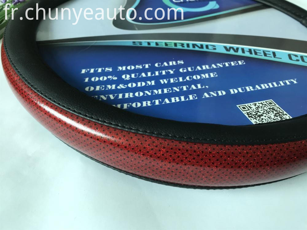 pu leather steering wheel cover
