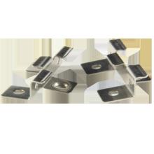 La cubierta de WPC utilizó los clips inoxidables de la cubierta