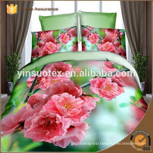 bedding set 3D green red yellow flower printed bedding set