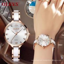 Women Hand Watch Fashion Luxury OLEVS Brand 5872 Quartz WristWatch Water Resistant Feature Timepiece Clock Women